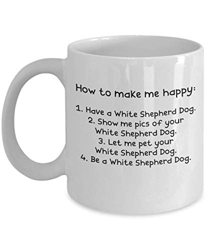 White Shepherd Dog Gifts - Gift Mug - White 11oz 15oz Ceramic Tea Coffee Cup - Perfect For Travel And Gifts 1