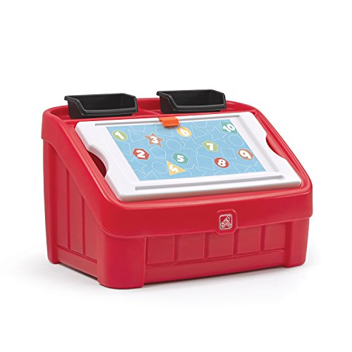 (Step2 2-in-1 Toy Box and Art Lid, Red)