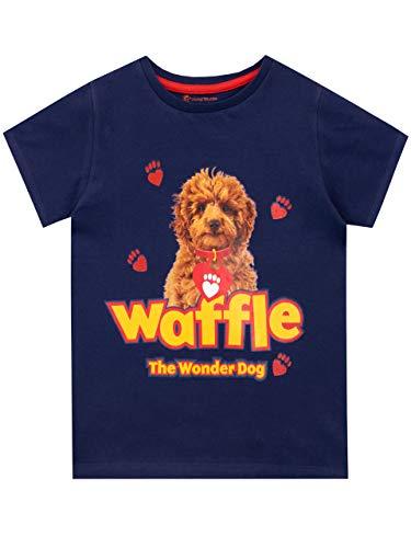 Waffle the Wonder Dog Meisjes T-Shirt Blauw