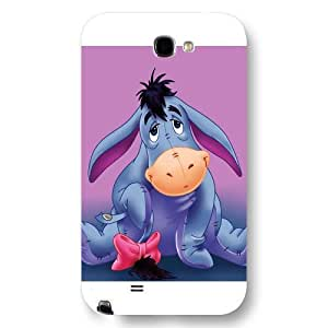 Customized White Frosted Disney Winnie the Pooh Eeyore Samsung Galaxy Note 2 Case