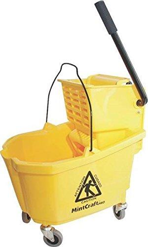 New Mintcraft Pro 9130 Professional 32 Quart Mop Bucket Pail & Ringer 0252957 by Mintcraft