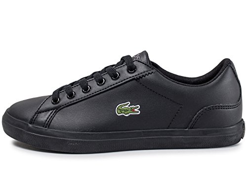 Lacoste Lerond 317 1 Black Synthetic Youth Trainers Black