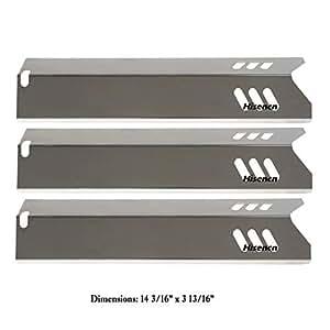 EdgeMaster Sustitución de placa de calor de acero inoxidable para seleccionar parrilla de patio gbc1406W-c; Uniflame gbc1030W, gbc1030wrs, gbc1030wrs-c, GBC1134W, gbc1134wrs