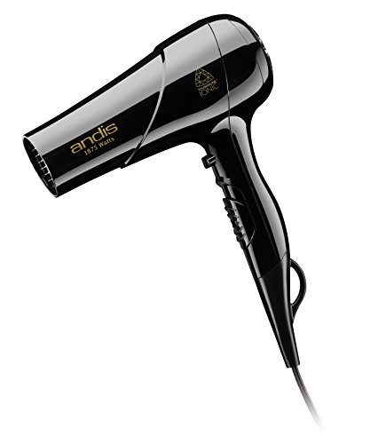 Andis 1875-Watt Tourmaline Ceramic Ionic Styling Hair Dryer, Black (80695) (Andis Travel Dryer Hair)