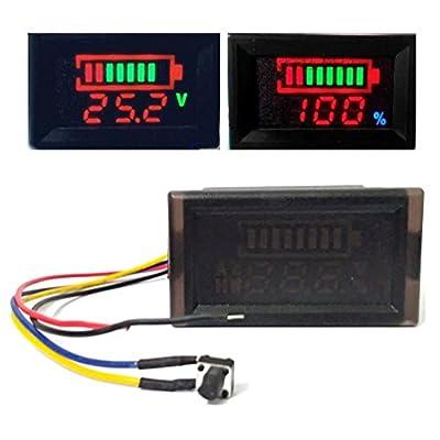 Fashion-YIP DC 12V-96V Acid lead/Lithium polymer/Lithium iron phosphate/NiMH Battery Capacity Indicator DC12V 24V 36V 48V 60V 72V 84V 96V Digital LED Tester Voltmeter Monitor