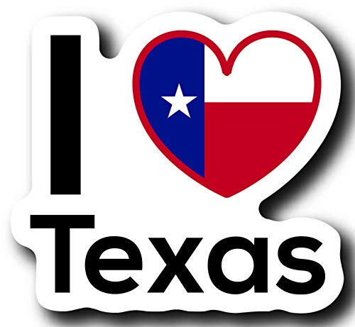 (Love Texas State Decal Sticker Home Pride Travel Car Truck Van Bumper Window Laptop Cup Wall - One 5 Inch Decal - MKS0043)