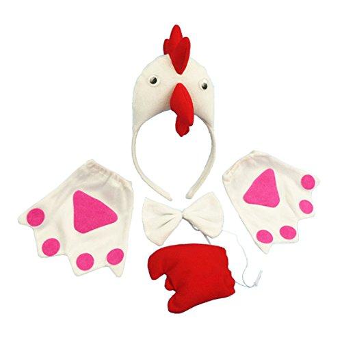 Lucky God Girls Womens 3D Chicken Hair Fancy Dress Cosplay Headband (White (Fancy Dress Chicken)