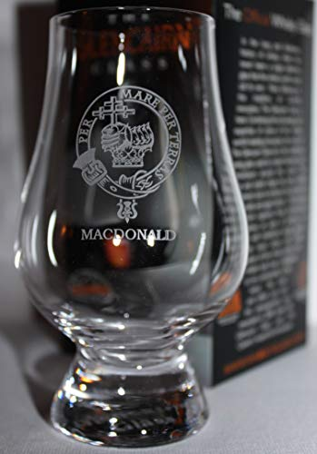 CLAN MACDONALD GLENCAIRN SINGLE MALT SCOTCH WHISKY TASTING GLASS