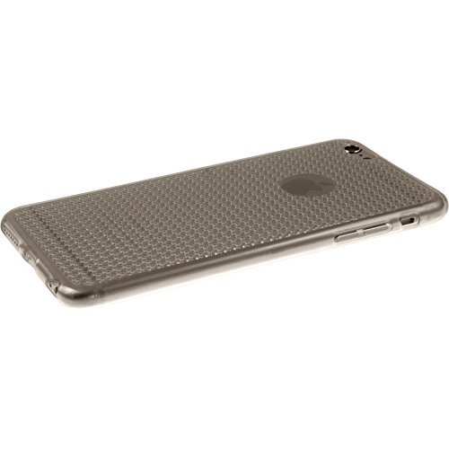PhoneNatic Case für Apple iPhone 6 Plus / 6s Plus Hülle Silikon grau Iced Cover iPhone 6 Plus / 6s Plus Tasche + 2 Schutzfolien