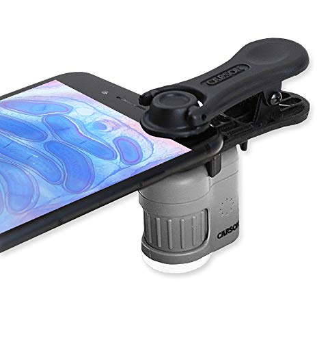 Carson MicroMini 20x LED Lighted Pocket Microscope with Built-in LED/UV...