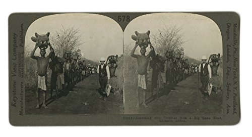 19th Century Hunting - 1800s Stereoview Photo Card - Big Game Hunting Trophies by JG Autographs, Inc.