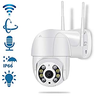 Pan Tilt Outdoor Security Camera,1080P Home WiFi IP Camera, Pan Tilt Dome Surveillance Cam, Two Way Audio Motion Detection 196ft Night Vision Onvif Waterproof CCTV Camera