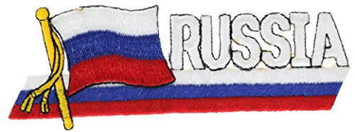 Russia Flag Colors 4.5 inch hat cap shirt patch - Colors Russia Of