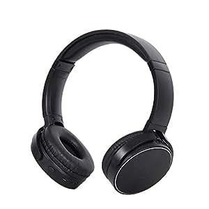 Tchin Auriculares inalámbricos con Bluetooth Dual Ear Estéreo Ligero 4.2 Auriculares para computadora Mini Auriculares Bluetooth Plegables (Color : Negro)