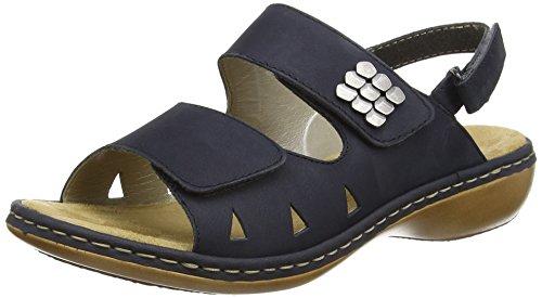 Rieker 65992 Women Open Toe - Sandalias Mujer Blau (pazifik / 14)