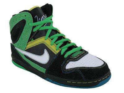 Nike 6.0 Skate (Nike 6.0 Zoom Oncore High Skate Shoe - Men's Black/White-Green Spark, 10.5)