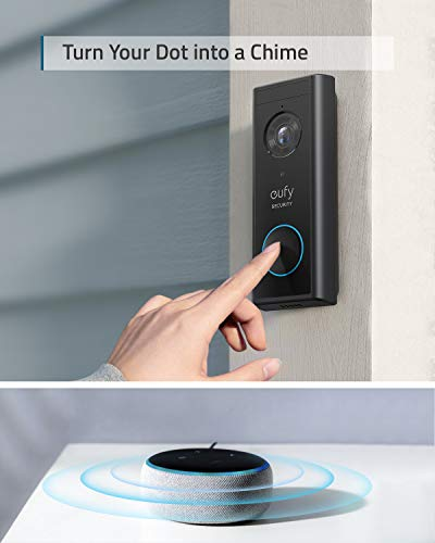 eufy Security, Video Doorbell (Battery-Powered) Kit, 2K Resolution, 180-Day Battery Life, Encrypted Local Storage, No…