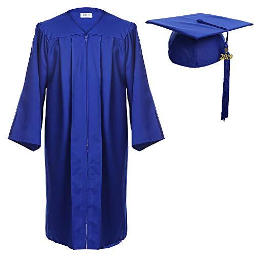 Newrara Graduation Gown Cap Tassel Set (Small 45(5'0