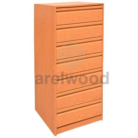 arelwood Cajonera para Armario Wengue Montada 75X50-7 Cajones. Alto 121,3 cm.