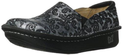 (Alegria Women's Debra Professional Slip Resistant Work Shoe,Silver Embossed Paisley,38 BR/8-8.5 M US)