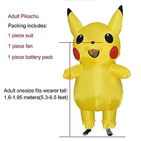 Hiwill jyzcos Inflatable Pikachu Disfraz Cosplay Purim Adult ...