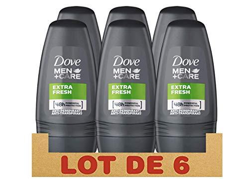 Dove Men+Care Extra Fresh Antiperspirant Roll-On, 1.7 Ounce / 50 ml (Pack of 6)