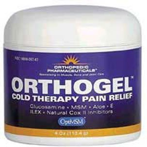 Orthogel Advanced Cold Therapy Pain Relief Gel- 4 oz. Jar by Orthogel