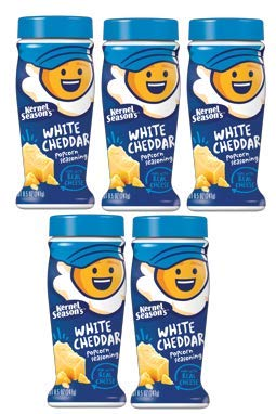 Kernel Seasons Popcorn Seasoning Jumbo Size 8.5oz White Cheddar (Pack of 5) by Kernel Season