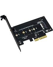 BEYIMEI Adaptateur M2 PCIe SSD vers PCI Express 3.0 x4 – Carte d'Extension Compatible avec Disque Dur Internet M2 NGFF PCI-e 3.0, 2.0 ou 1.0, NVMe or AHCI, M-Key, 2280, 2260, 2242, 2230