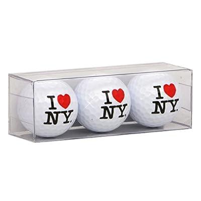 I Love NY Golf Balls, Set of 3 I Heart NY Golf Balls, Regulation Size and Weight