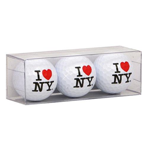 City-Souvenirs I Love NY Golf Balls, Set of 3 I Heart NY Golf Balls, Regulation Size and Weight