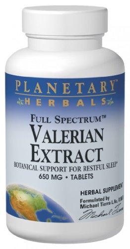 Planetary Herbals Full Spectrum Valériane Extrait comprimés, 650 mg, 60 comte Bouteille