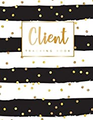 Client Tracking Book: Hairstylist Client Data Organizer Log Book with A - Z Alphabetical Tabs | Personal Clien