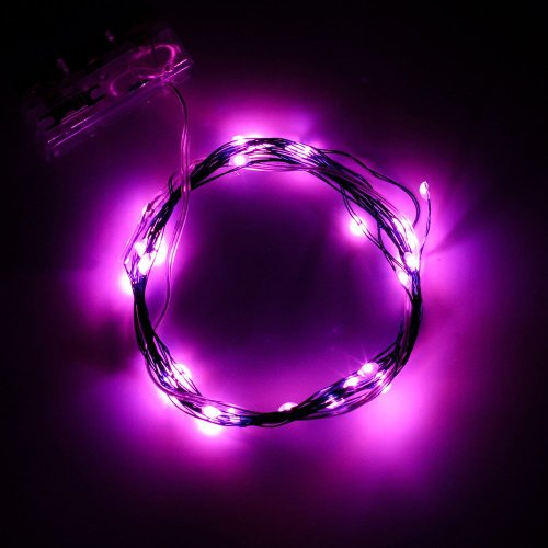 BINZET 2m 20leds Flexible LED Soft Wire String Lights Micro LED Starry Starry Lights AA Battery ...