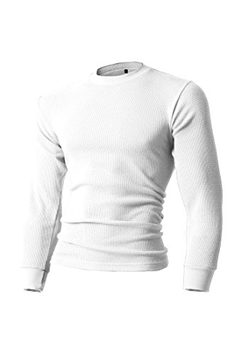 Mens Shirt Thermal Only (KS Mens Thermal T Shirts (Large/ ks23_white))