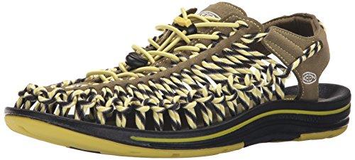 Keen Men's UNEEK Slice Fade Sandal - Burnt Olive/Warm Oli...