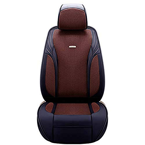 Car Seat Cushion for Leather Seats Very Thick & Durable Quality Backseat Cover, for 5 Seats Vehicle Suitable for Year Round Use,Brown: