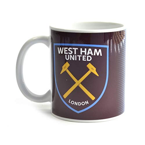 West Ham United FC Halftone 11oz Boxed Mug (One Size) (Claret/Blue)