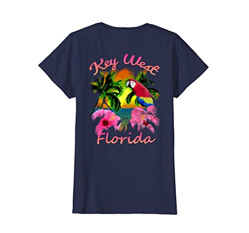 Womens Key West Tropical Beach Sunset T-Shirt Large - West Key Women