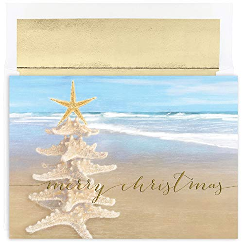 Masterpiece Studios Starfish Tree Holiday Cards, 7.875 x 5.625-Inches ()