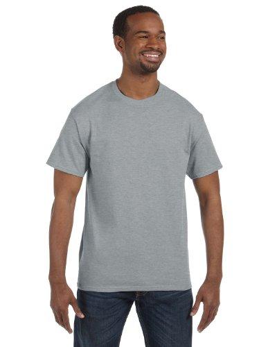Jerzees mens 5.6 oz. 50/50 Heavyweight Blend T-Shirt(29M)-ATHLETIC HEATHER-L
