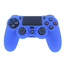 HDE PS4 Controller Skin Protective Case Cover Silicone Grip for PlayStation Dualshock 4 Gaming Controllers (Blue)