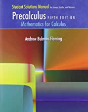 Student Solutions Manual for Stewart/Redlin/Watson's Precalculus: Mathematics for Calculus, 5th (Paperback)