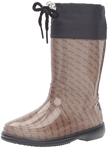 Guess Kids Shoes (GUESS Paolo Pull-On Boot,Beige/Black,33 EU/2 M US Little Kid)