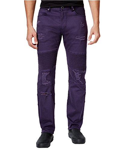 LRG Men's Payola Tapered-Fit Pintucked Jeans (34, (Lrg Men Jean)