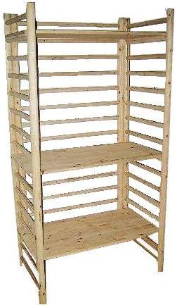 Master Garden Products Log - Estante de Madera para Cubo de Escalera con Cuatro estantes, 48,26 cm de Profundidad x 81,28 cm de Ancho x 182,88 cm de Alto: Amazon.es: Juguetes y juegos