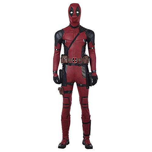DP Movie Cosplay Costume Wade Costume Mask Set Deluxe Leather Jumpsuit Outfit Bodysuits Halloween Costumes -