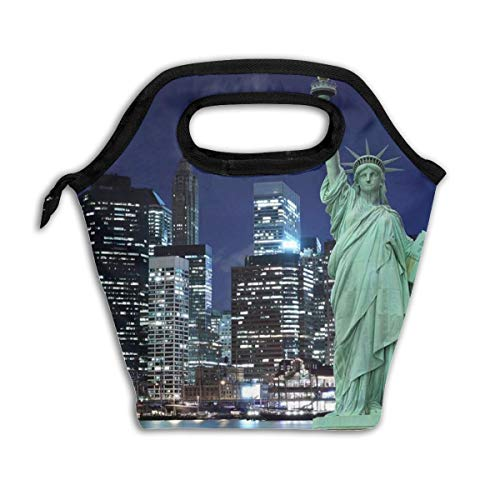 Insulated Lunch Bag New York Statue Of Liberty Lunch Tote Lunch Box Lunch Sack Quality Food Storage Cooler For Adult Teens Men Women Perfect For Picnic Travel Camping