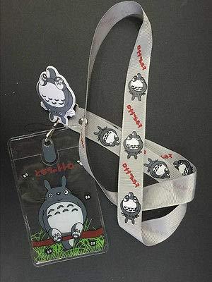 FidgetFidget Cartoon cat Lanyard Neck Strap ID Card Badge/Mobile P Holder 10X Japanese Gray ()