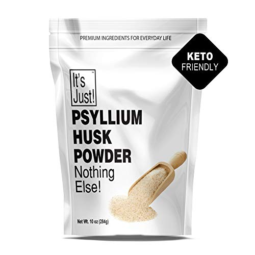 It's Just – Psyllium Husk Powder, Non-GMO, Dietary Fiber, Keto Baking (10oz)